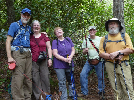 A Team of Geocache Hunters in front of the 2nd Spear location