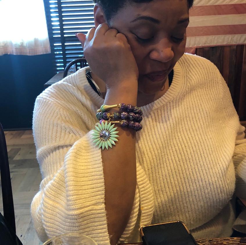 Pam rocking her bracelet!