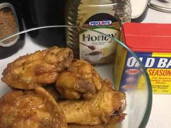Honey Old Bay Wings!