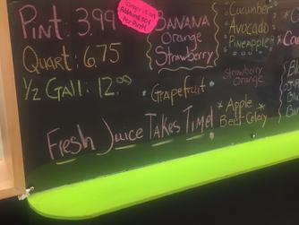 J&J Produce Juice Bar!