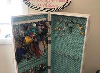 Upcycled Earring Armoire!