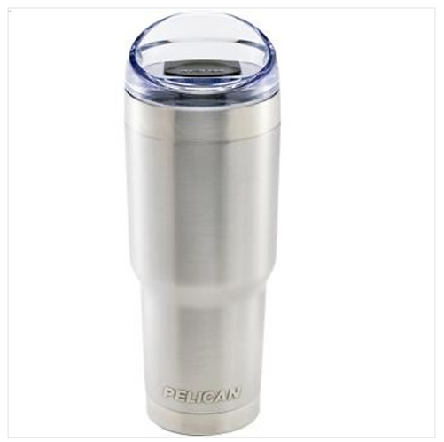 22 OZ TRAVELER TUMBLER WITH SLIDE - SILVER