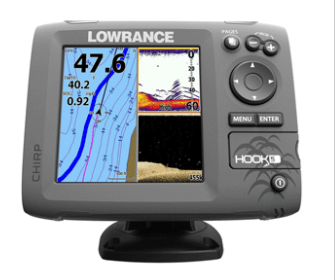 LOWRANCE HOOK-5 COMBO W/83/200/455/800 HDI TRANSOM MOUNT TRANSDUCER