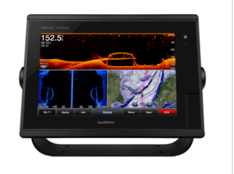 "GARMIN GPSMAP® 7410XSV 10"" CHART PLOTTER & SOUNDER W/J1939 PORT,"