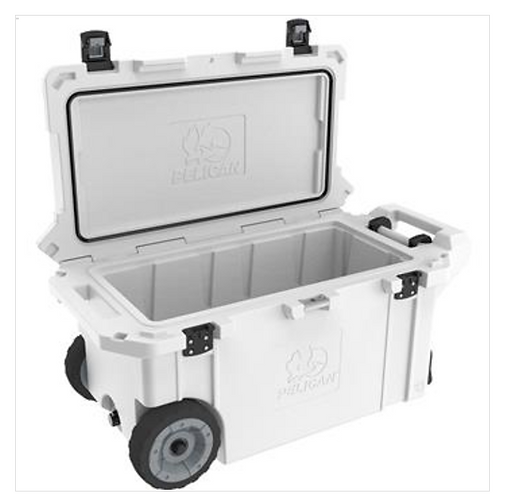 80 QT ELITE COOLER WITH WHEELS - WHITE