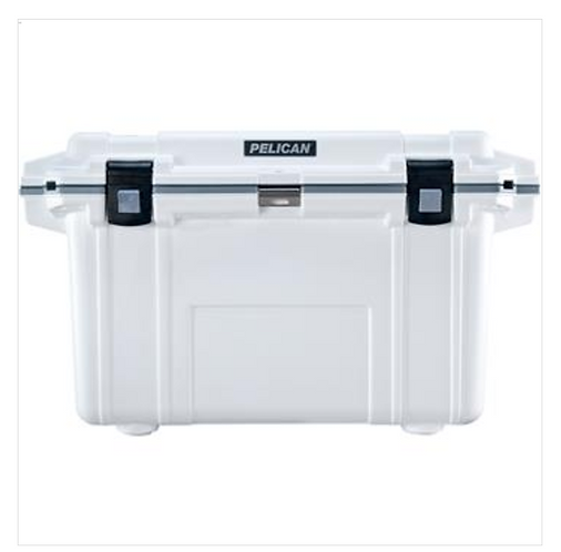 70 QT ELITE COOLER - WHITE WITH GRAY TRIM
