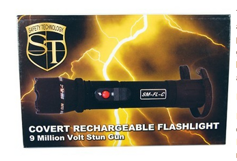 Covert Stun Gun Flashlight 9,000,000 volt