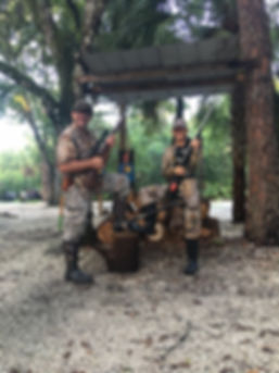 RIchie and his daughter Bianca on her first hunting trip in central Florida