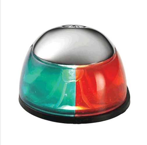 ATTWOOD 2-MILE DECK MOUNT, BI-COLOR RED/GREEN COMBO - 12V - STAINLESS STEEL