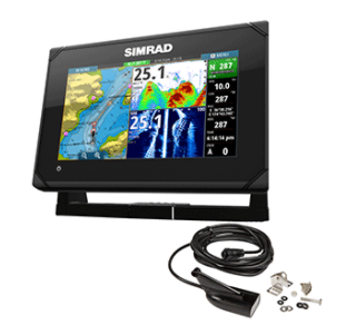 SIMRAD GO7 XSE CHARTPLOTTER/FISH FINDER W/HDI TRANSOM MOUNT TRANSDUCER