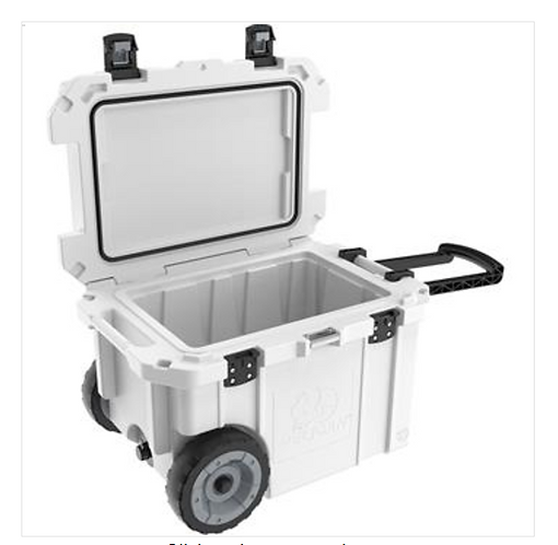 45 QT ELITE COOLER WITH WHEELS - WHITE