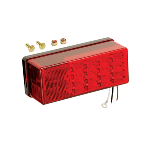 "WESBAR 3"" X 8"" WATERPROOF LED 8-FUNCTION, LEFT/ROADSIDE TAIL LIGHT"