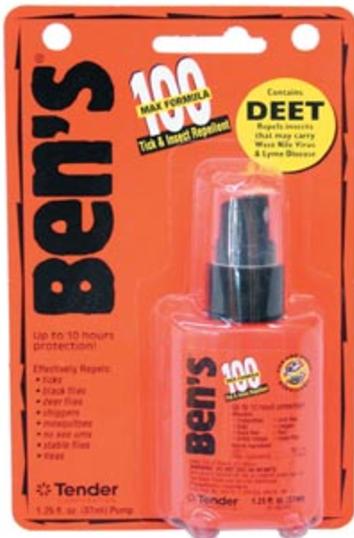 Ben's 100 Max Formula Insect Repellent - 95 Percent DEET - 1.25 fl. oz.