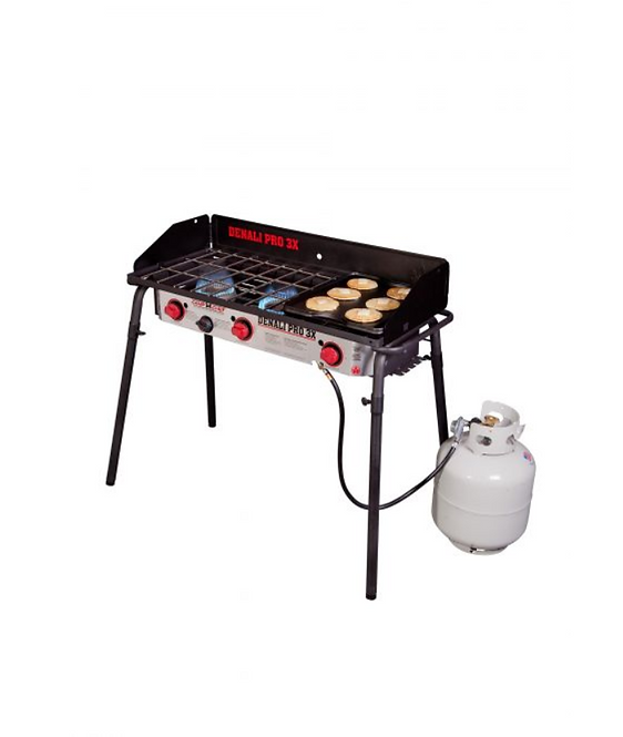 CAMP CHEF DENALI PRO 3X THREE BURNER STOVE WITH GRIDDLE