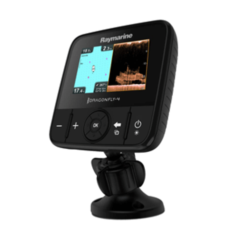 RAYMARINE DRAGONFLY 4PRO CHIRP SONAR/GPS W/DOWNVISION™ PLUS CONVENTIONAL SONAR &
