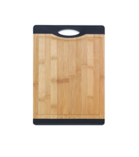 Bamboo Cutting Board With Black Grip