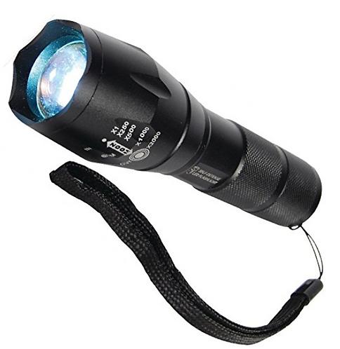 1,200 Lumen LED Self Defense Zoomable Flashlight