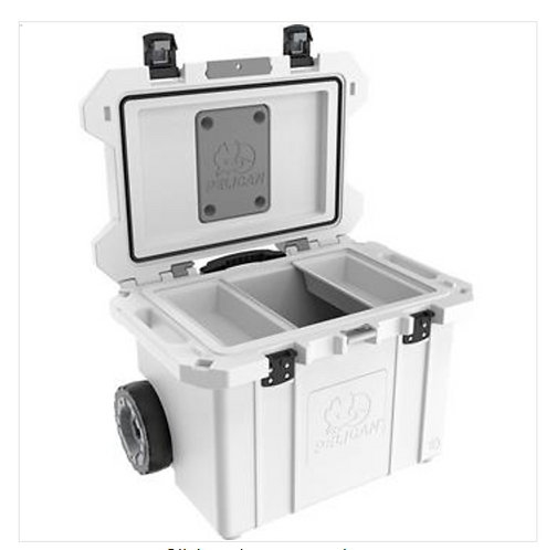 55 QT TAILGATER COOLER WITH WHEELS - WHITE