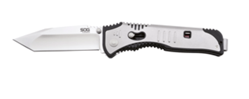 SOG FLASHBACK TANTO FOLDING KNIFE - POLISHED SATIN
