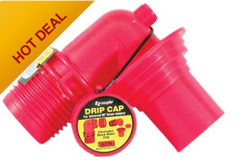EZ SEWER ADAPTER RED ANGLED