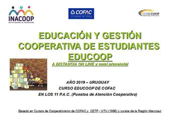 FORMACION COOPERATIVA ON LINE PARA DOCENTES Y FORMADORES ORGANIZADO POR COFAC