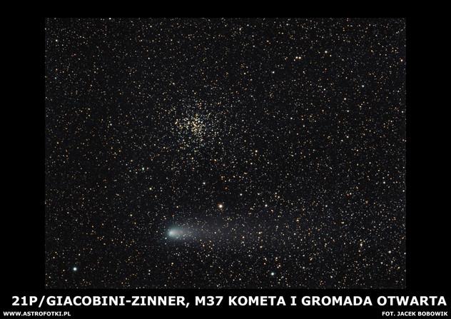 Open Cluster And Comet in Auriga