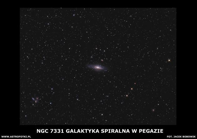 Spiral galaxy in the constellation Pegesus