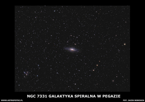 Spiral galaxy in the constellation Pegesus