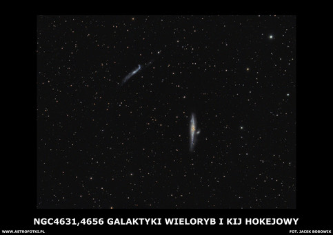 Whale Galaxy and Hockey Stick Galaxies