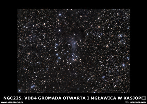 Open Cluster and Nebula in Cassiopea