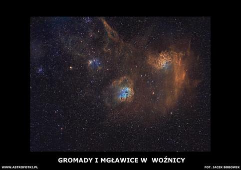 Clusters Nebulae in Auriga