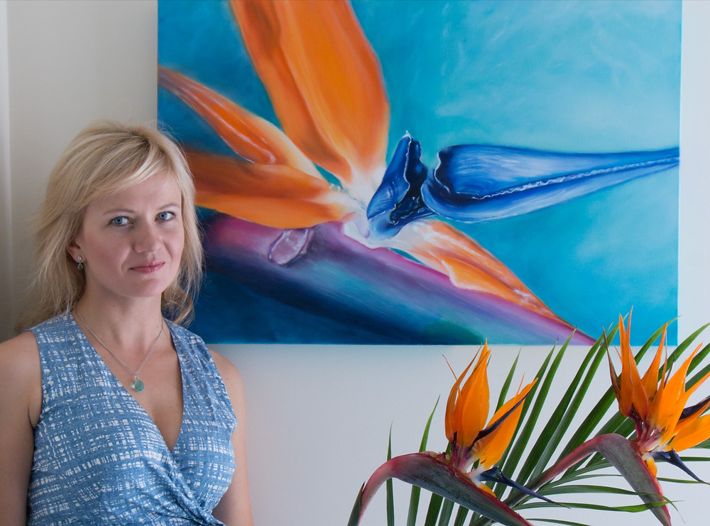 "Oil painting ""Birds of Paradise flower"""