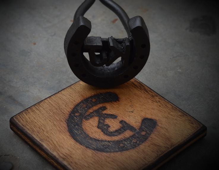 Close-up of Custom Branding Iron