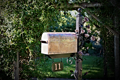Beautiful Custom Copper Mailbox