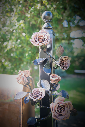 Beautiful Roses on Mailbox