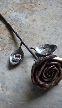 Nickel Rose Ring Holder