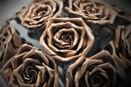 Close-up of Hand Forged Roses