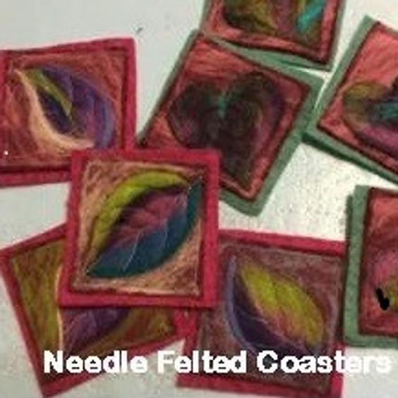 Needle Felted Coasters, $25