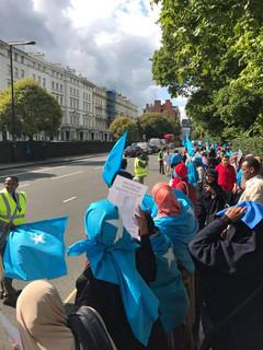UK Protest for Qalbidhagax