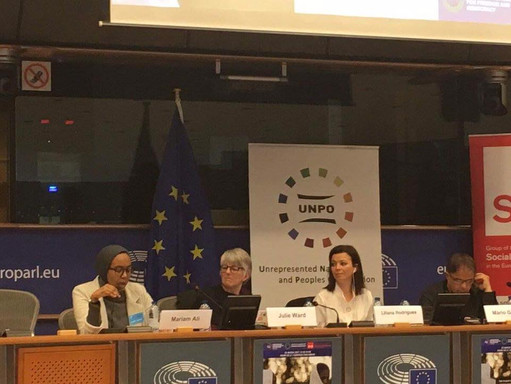 OYSU UK member Mariam testifying at the UN