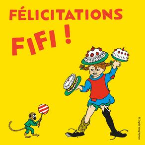 Félicitations Fifi!
