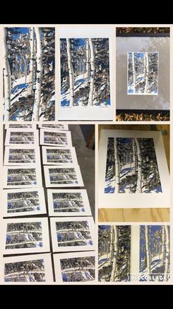 Winter Conifers, Process