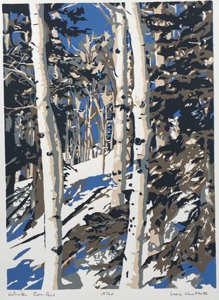 Winter Conifers, silk screen