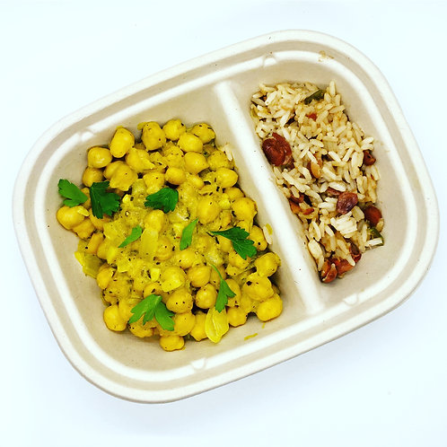 Curried Chickpeas & Rice