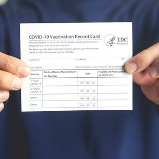 Vaccination Card and Photo ID