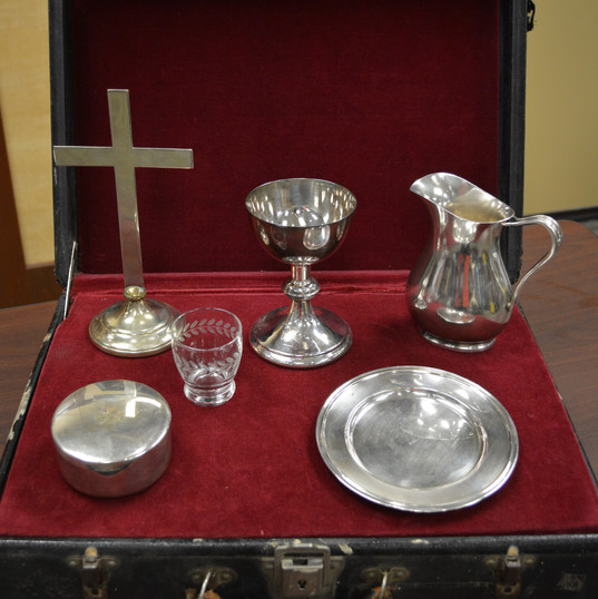 Old communion set gift to Fed Chaplaincy from Joel Oines.jpg