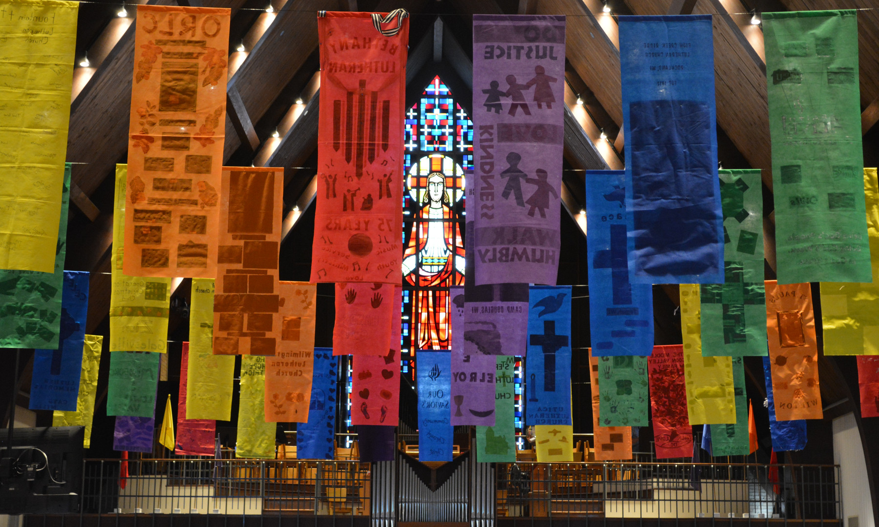 Banners with Jesus.JPG