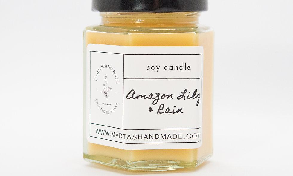 Amazon Lily & Rain Soy Candle