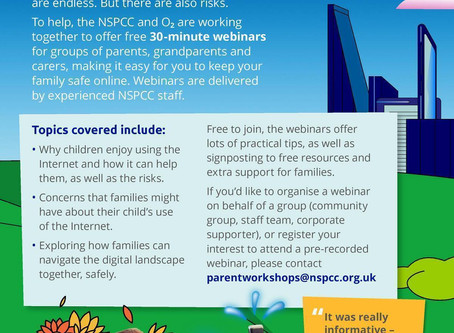 NSPCC - Keeping kids safe online webinar
