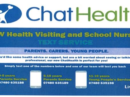 School Nursing - Chat Health Service